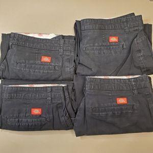 Bundle (4) Dickies Women's Pants 10r